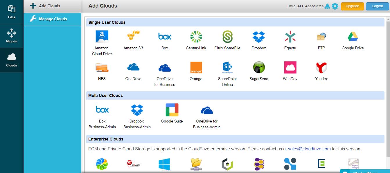 configure FTP and Google Drive accounts