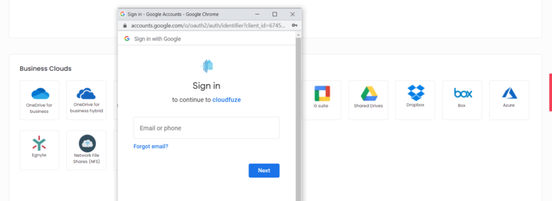 OneDrive cloud adding