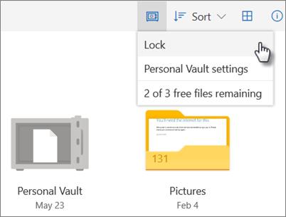 lock personal vault