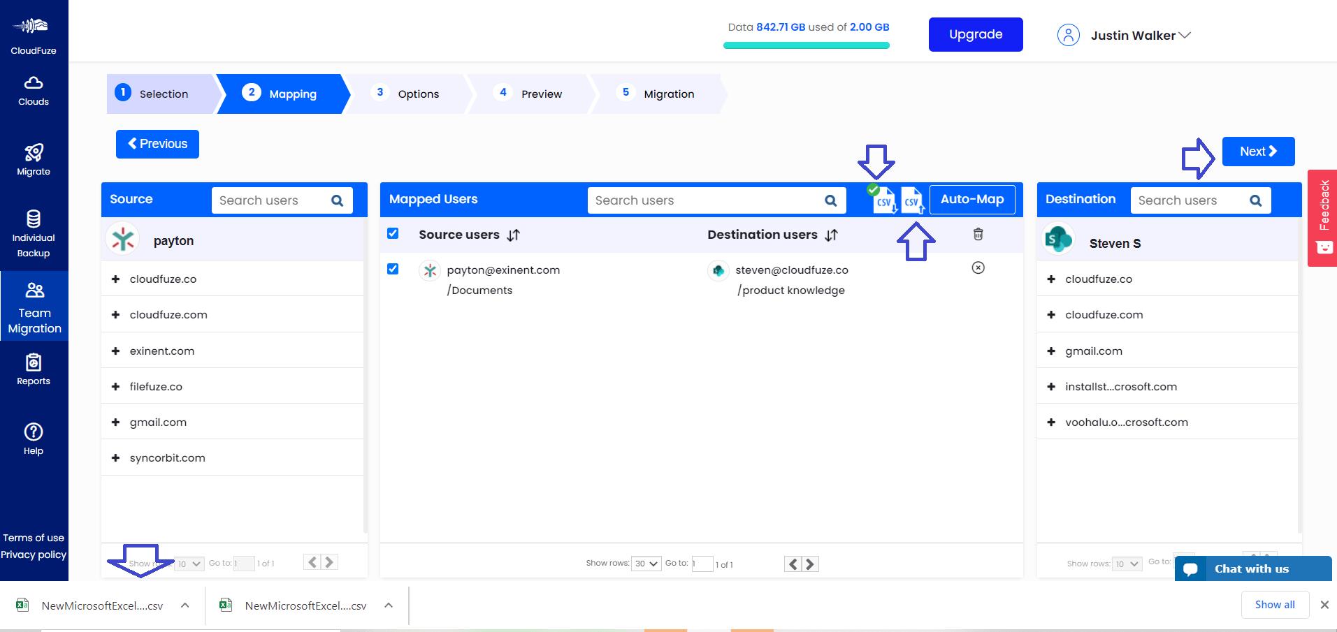 Upload CSV Files