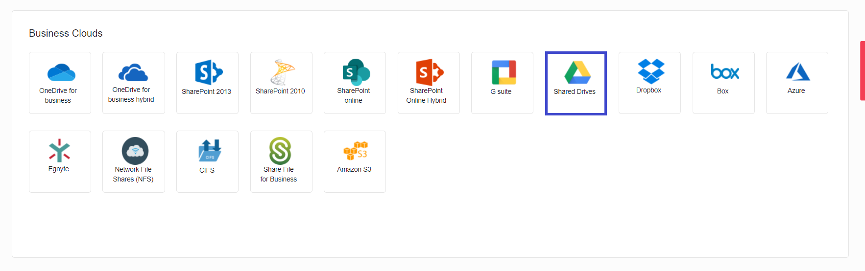 Locate Google Shared Drives