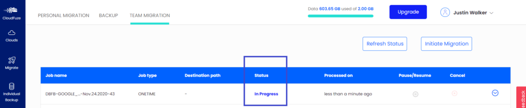 Dropbox business to Google Shared Drive In Progress