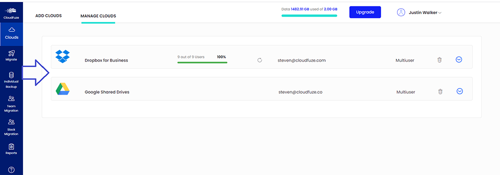 Verify Dropbox business to Google Shared Drive